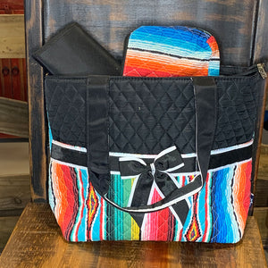 Serape Quilted 3 Piece Diaper Bag