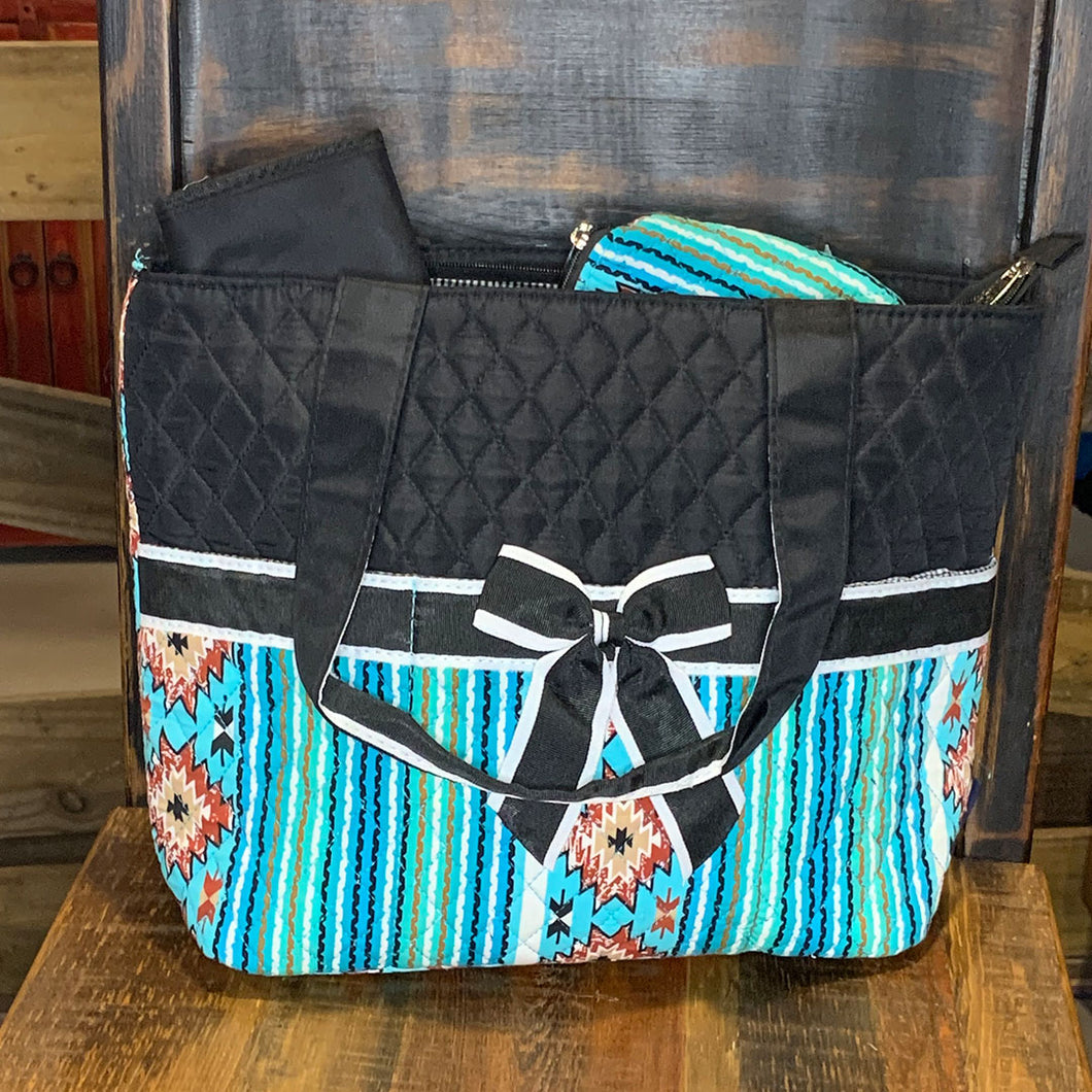Southern Aztec and Serape Quilted 3PCS Diaper Bag