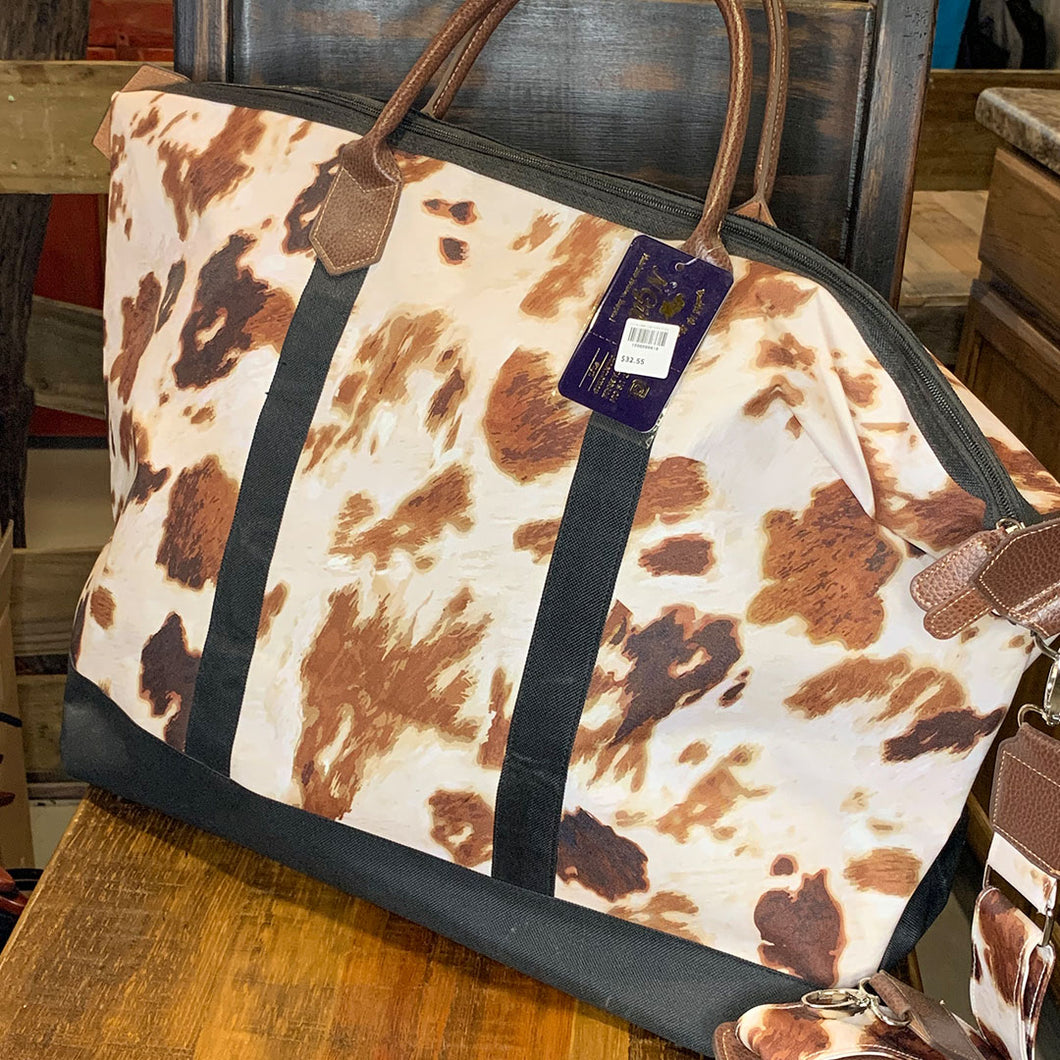 Cow Print Large Weekender Bag