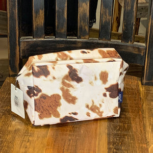 Cow Print Cosmetic Travel Pouch