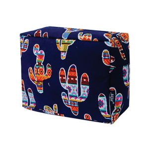 Large Cosmetic Case Travel Pouch - Colorful Cactus