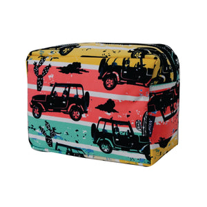 Large Cosmetic Case Travel Pouch - Desert Adventure