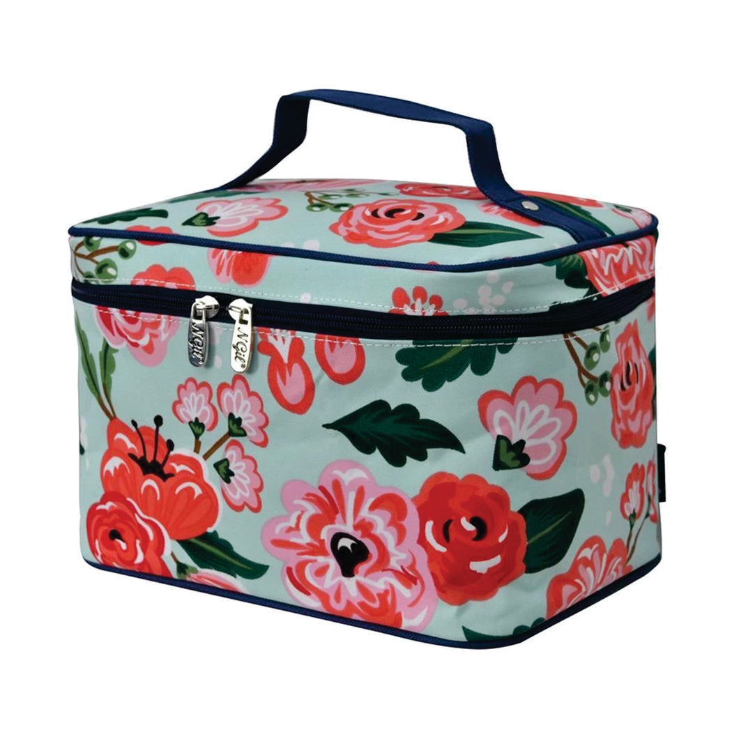Large Top Handle Cosmetic Case - Floral Blossom