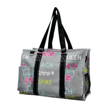 Load image into Gallery viewer, Zippered Caddy Organizer Tote - Inspiring Teacher