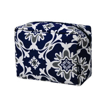 Load image into Gallery viewer, Large Cosmetic Case Travel Pouch - Quatro Vine Pattern