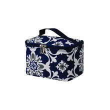 Load image into Gallery viewer, Top Handle Cosmetic Case - Quatre Vine Pattern