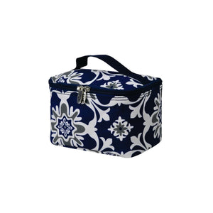 Top Handle Cosmetic Case - Quatre Vine Pattern