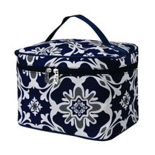 Load image into Gallery viewer, Large Top Handle Cosmetic Case - Quatro Vine Pattern