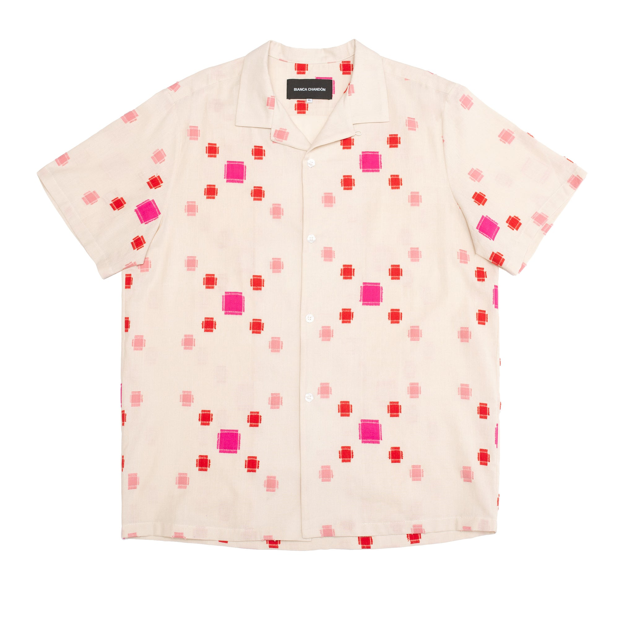 Check Jacquard Button-Up Shirt