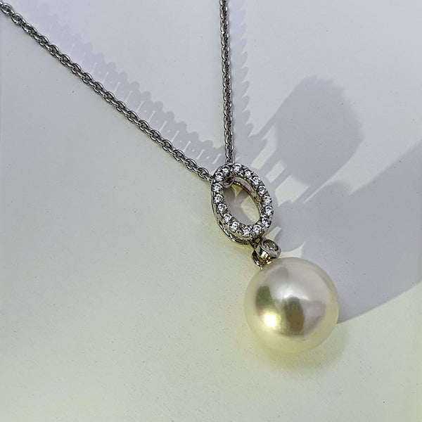 Alicia Mai Pearl and Silver Necklace