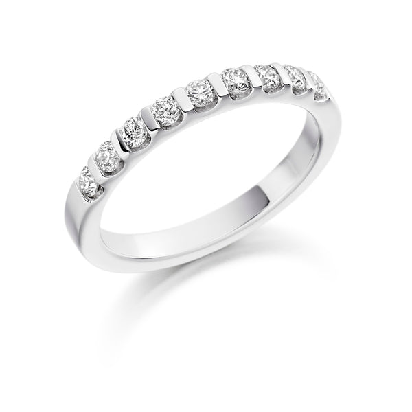 Diamond Half-Hoop Ring