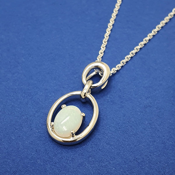 Alicia Mai Silver and Opal Necklace