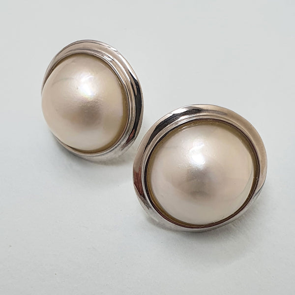 Alicia Mai Pearl and Silver Earrings