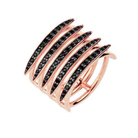 Alici Mai Shaun Leane Rose Gold Vermeil Black Spinel Quill Ring