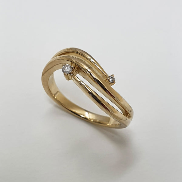Gold and Diamond Trilliance Ring