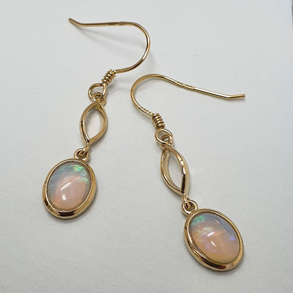 Alicia Mai Gold and Opal Drop Earrings
