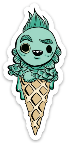 Creature Cone Sticker