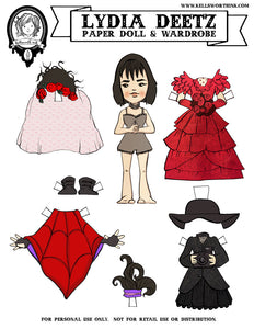 Beetlejuice's Lydia Deetz Paper Doll - Download