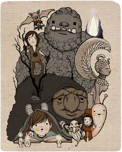 The Neverending Story Tribute Print