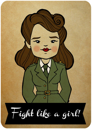 Peggy Carter - Fight Like a Girl Print