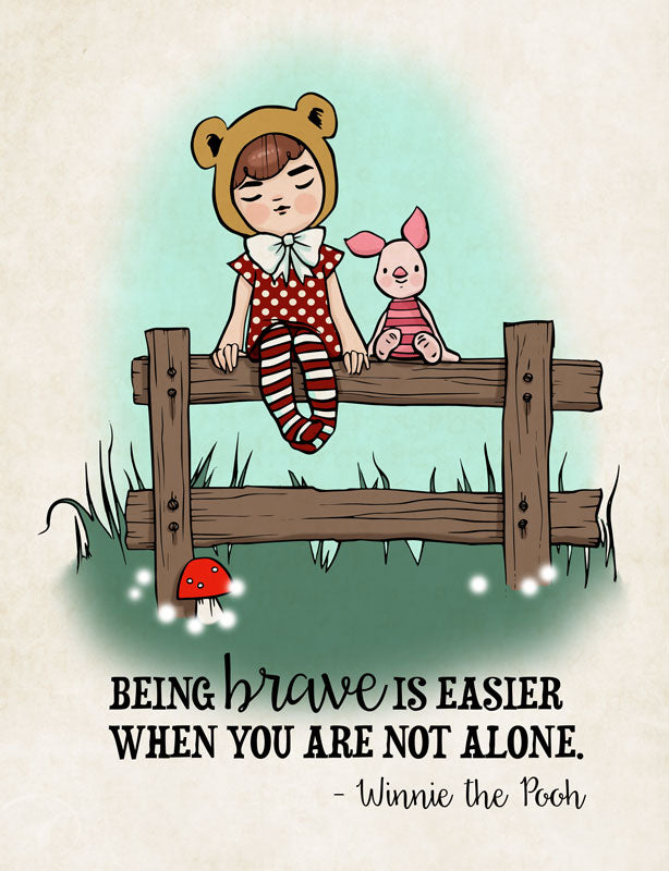 Being Brave - Piglet and Pooh