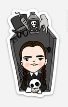 Load image into Gallery viewer, Wednesday Addams vinyl sticker