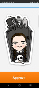 Wednesday Addams vinyl sticker