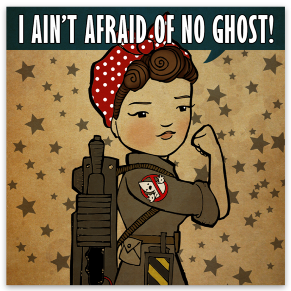 Rosie the Ghostbuster Sticker