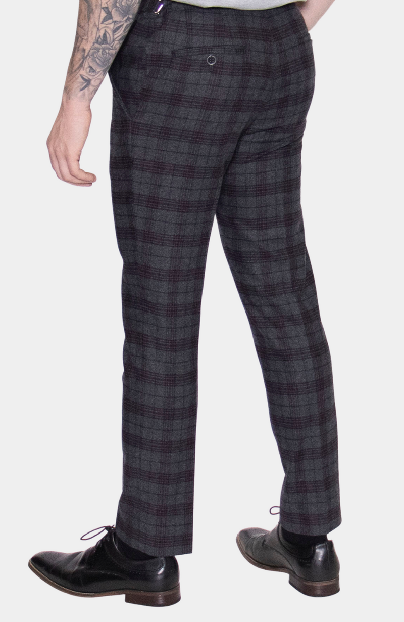 INISHEER CHECK 3 PIECE SUIT - HIRE