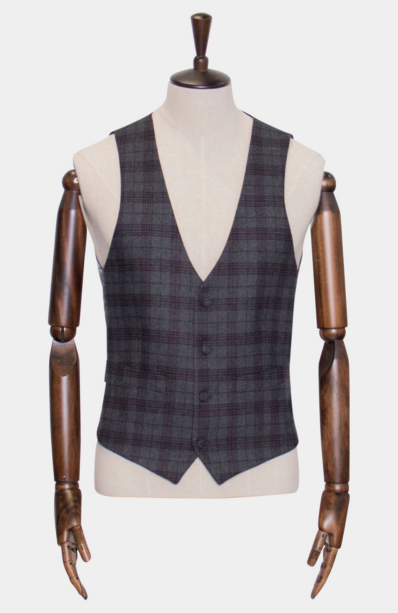 INISHEER CHECK 3 PIECE SUIT - MADE TO ORDER