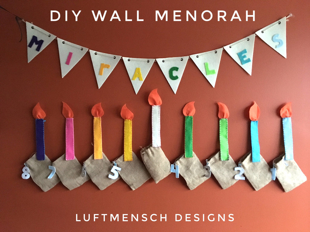 How To Make a Simple DIY Felt Wall Menorah