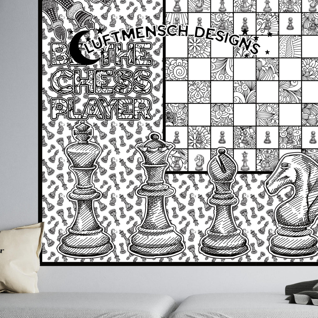 Chess Gifts for Him, giant coloring poster