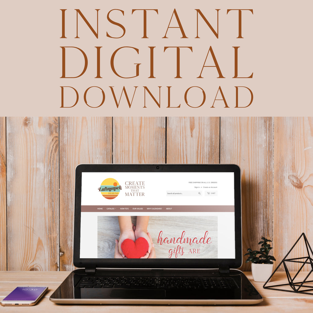 Instant digital download from luftmensch designs