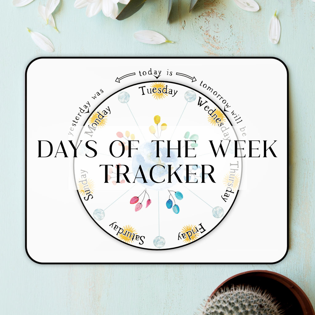 Days of the Week Visual Tracker