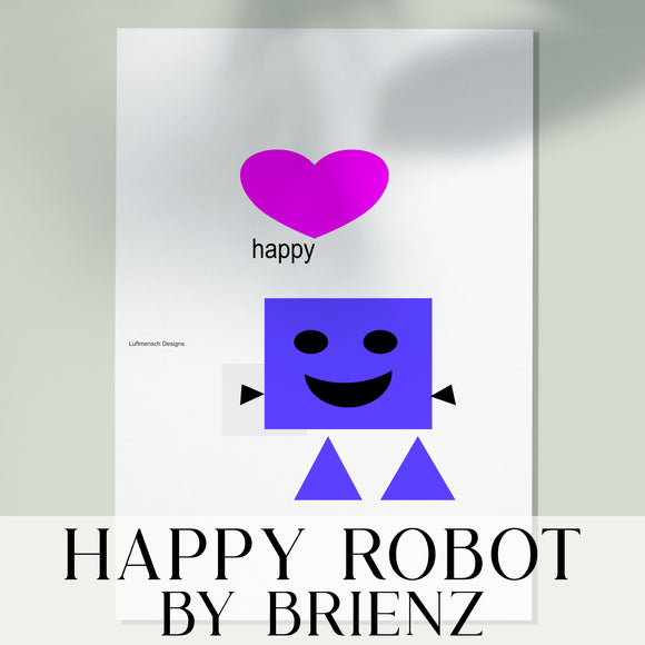 Happy Robot Art