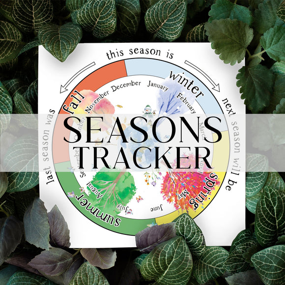 Seasons Tracker, Printable