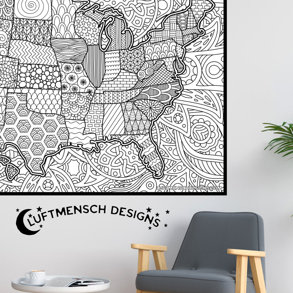 Map of United States Coloring Sheet
