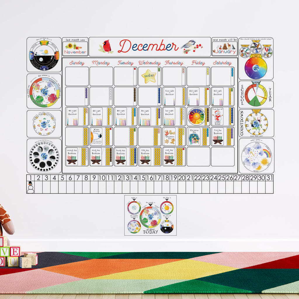 How to make calendar for kindergarten