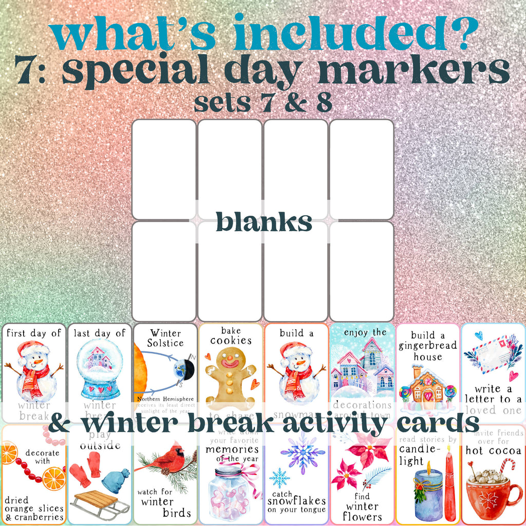 Winter Break Activity Cards Printable
