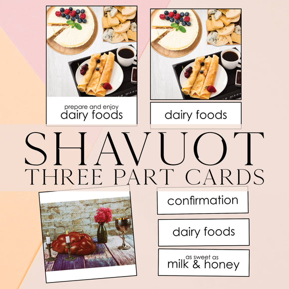 Shavuot Three Part Cards & Info Cards