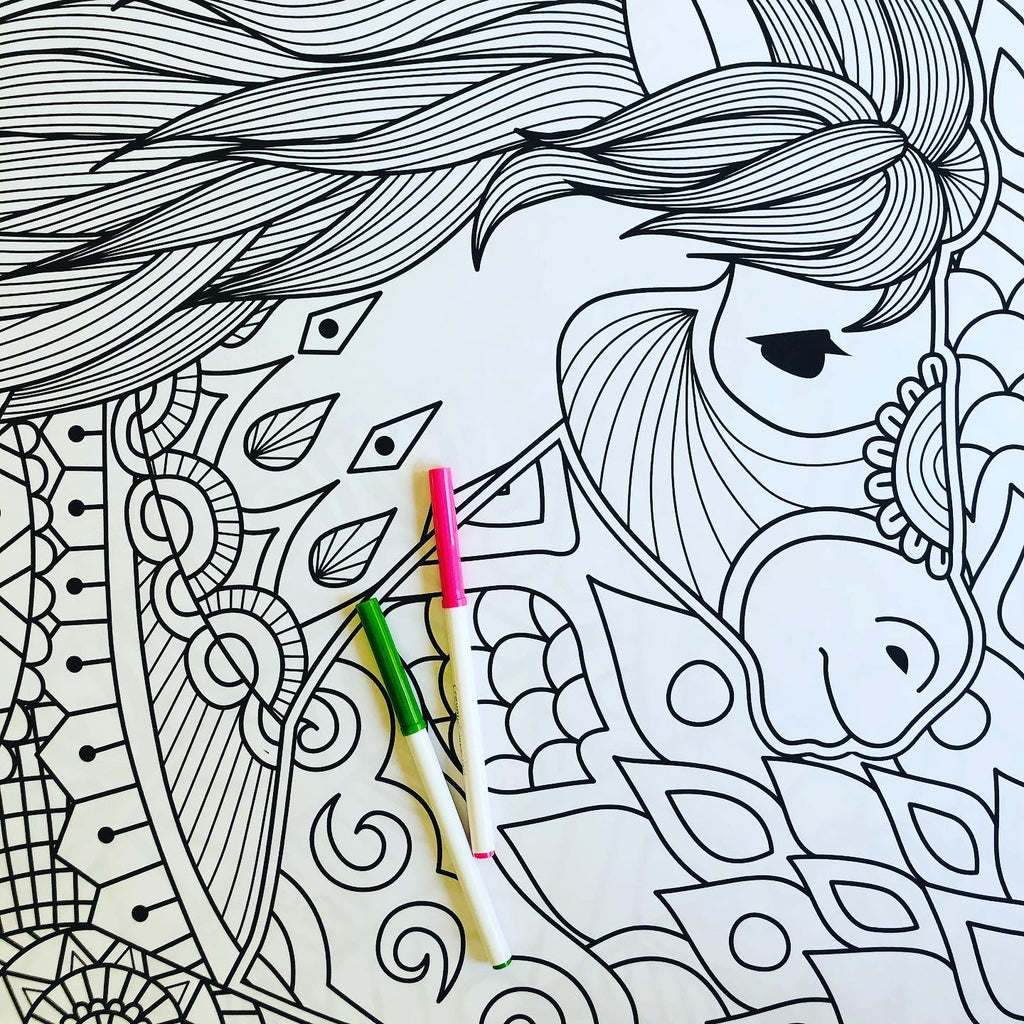 Horse Coloring Poster Printable
