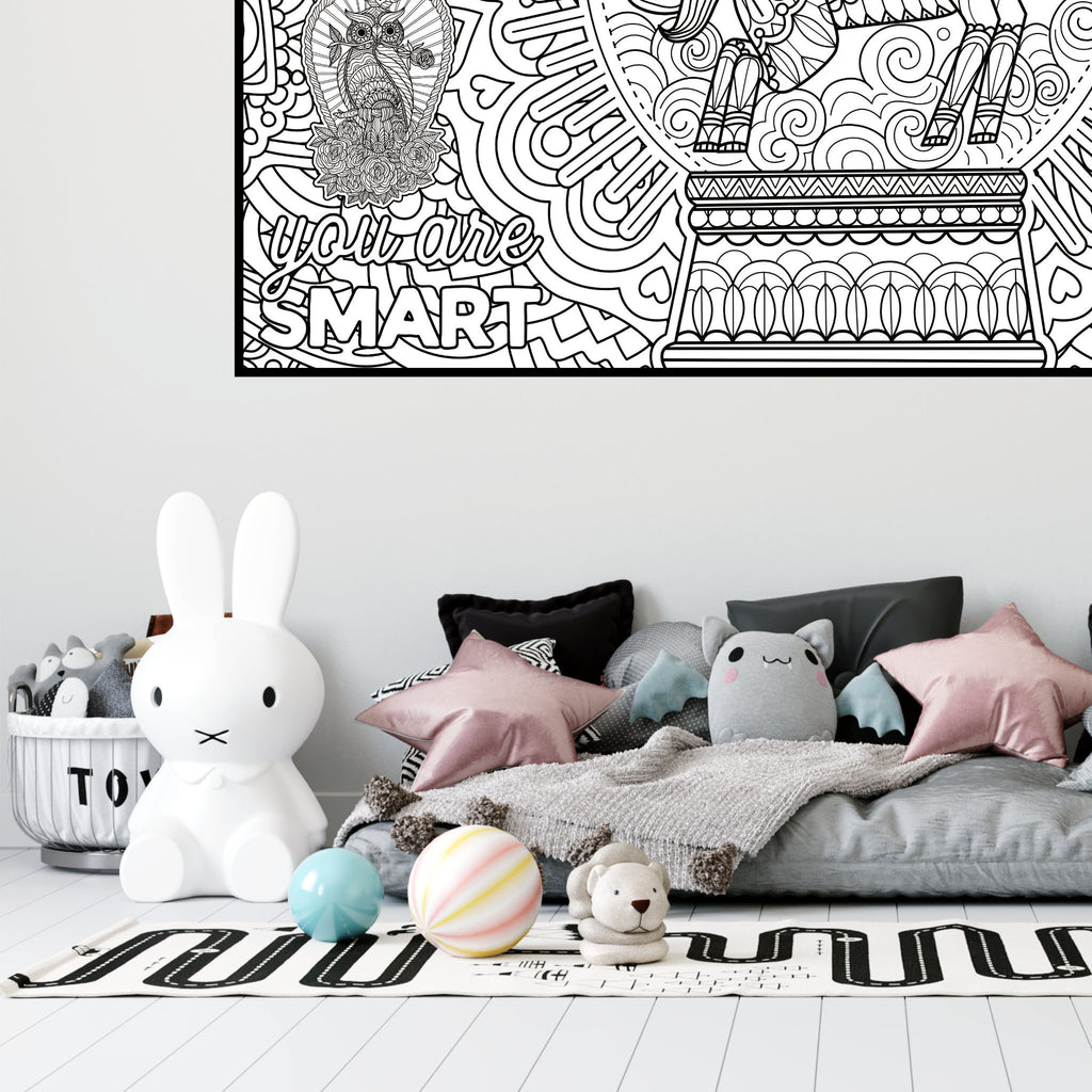 Giant Coloring Poster, printable gift for children