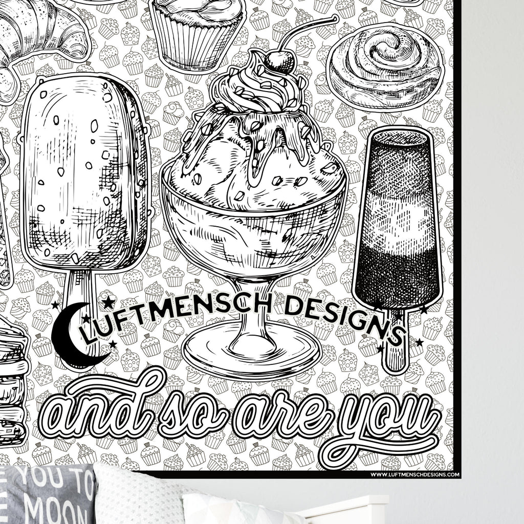 Ice Cream Coloring Poster Printable