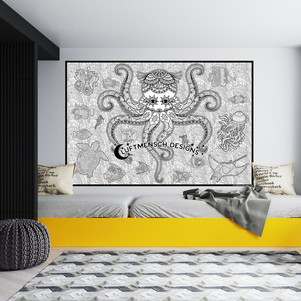 Octopus Coloring Poster