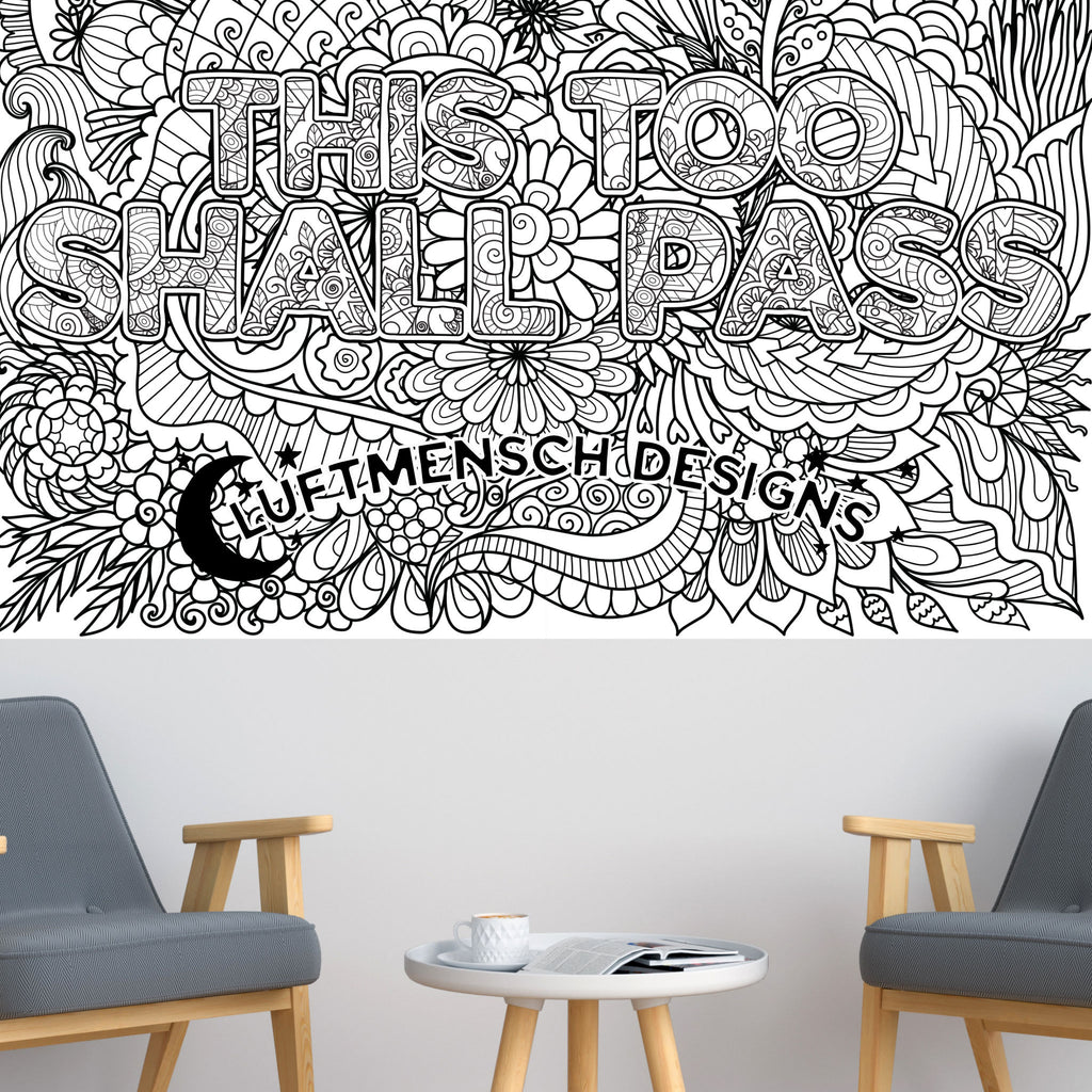 Motivational Adult Coloring Poster