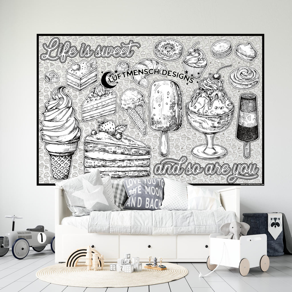 Sweet Treats Huge Coloring Poster