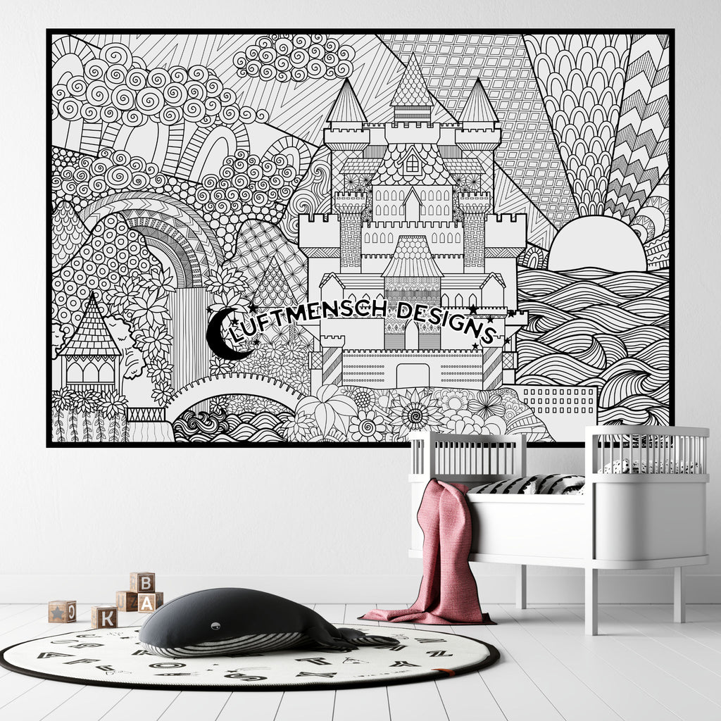 Castle Coloring Poster Printable