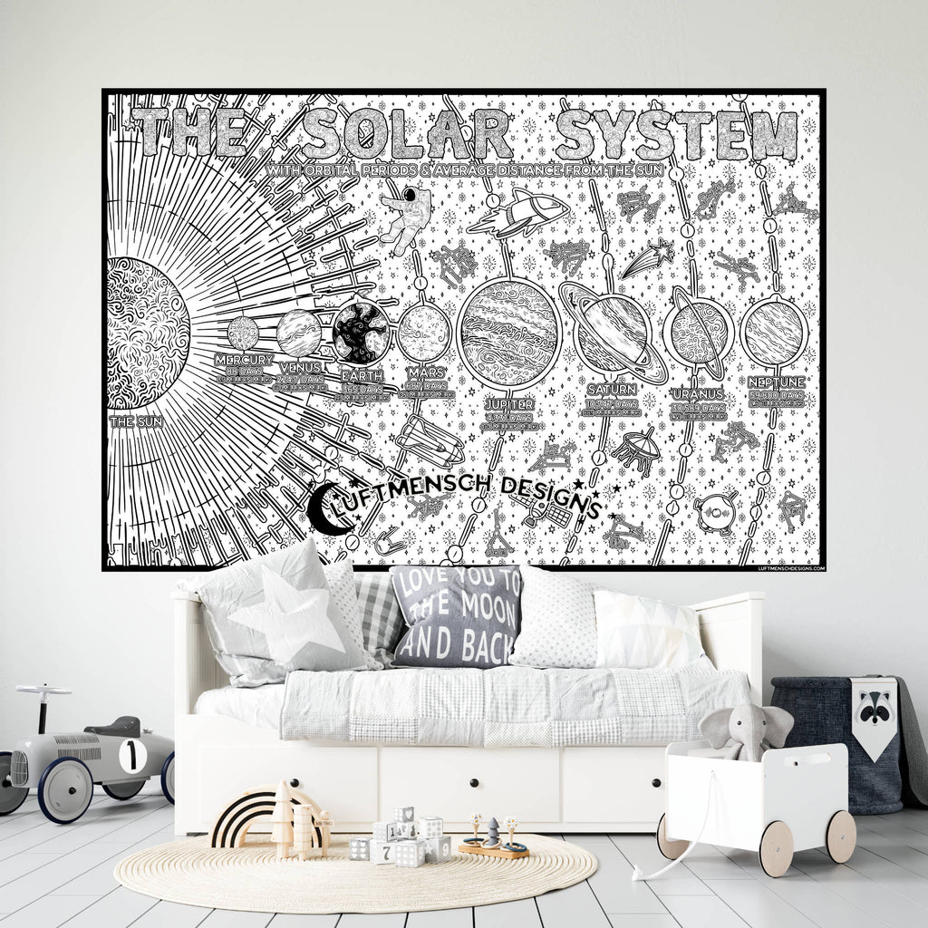 Solar System Giant Coloring Poster