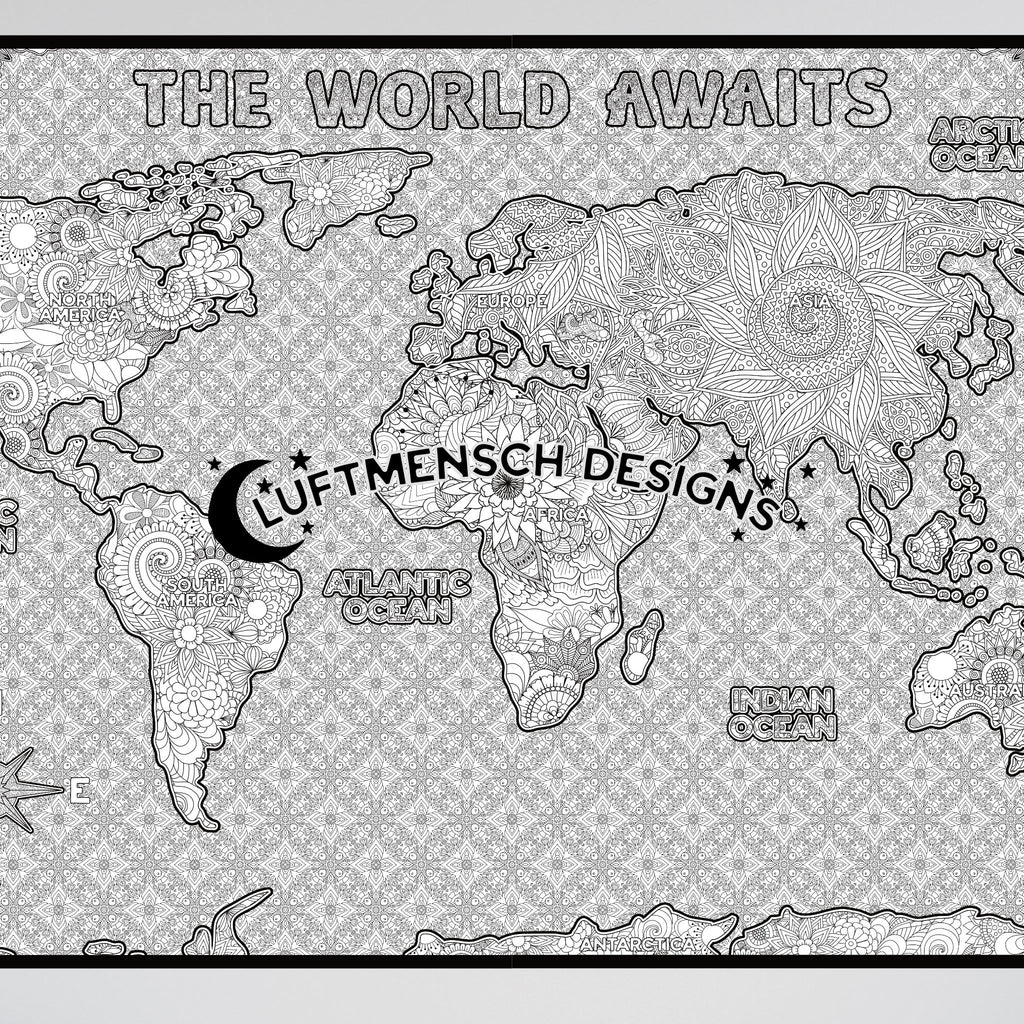 World Map Coloring Activity