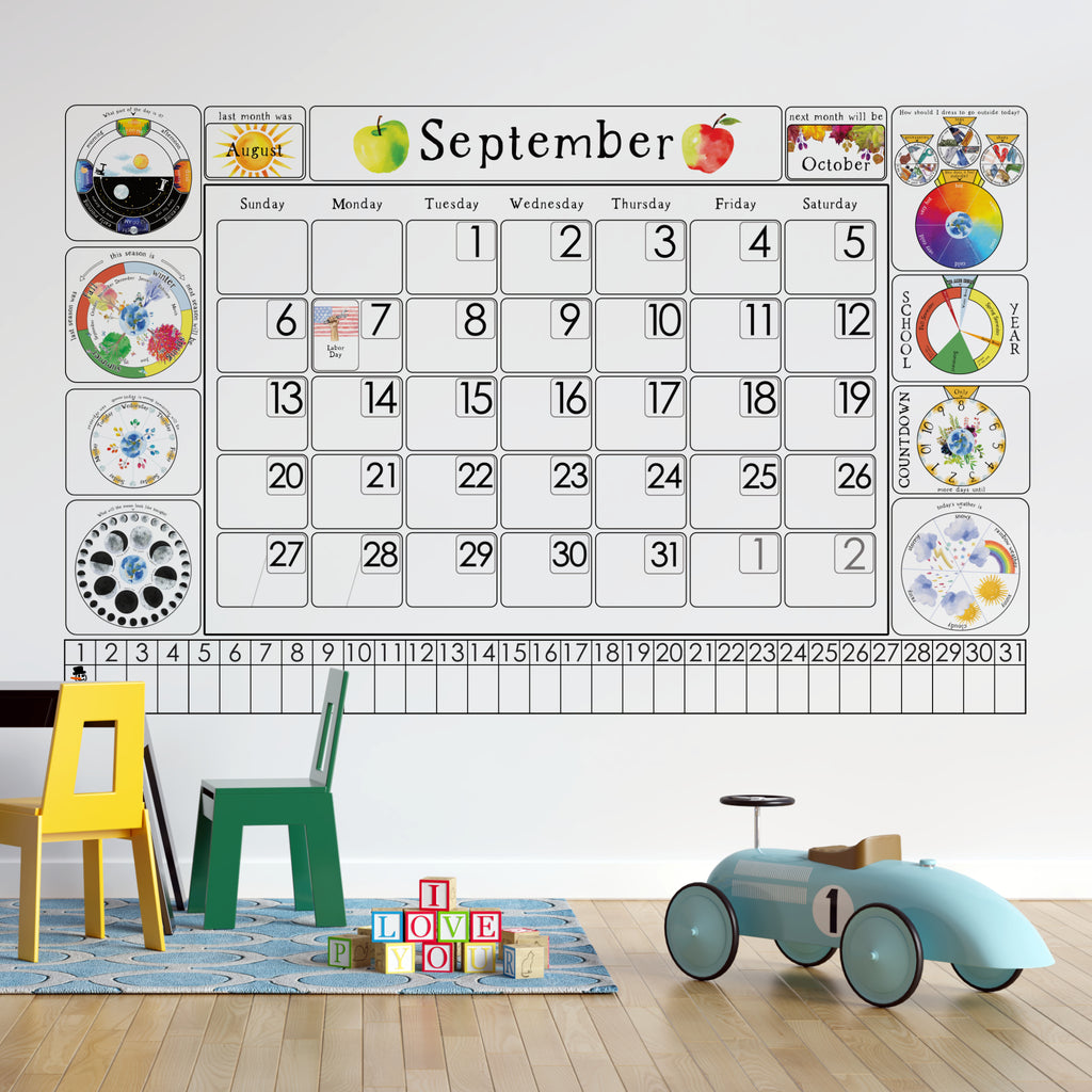 Printable wall calendar for children